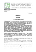 Resolution des Interregionalen Parlamentarier-Rats